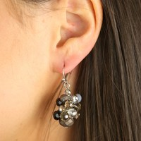Let's Twist Again Earrings in Grey