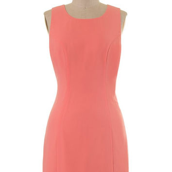 Scalloped Dress - Coral