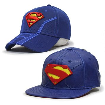 Superman Suit Up Inspired Acrive Adjustable / Fitted Baseball Cap