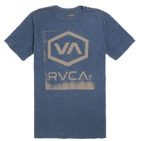 RVCA Sixagon T-Shirt - Mens Tee - Blue -