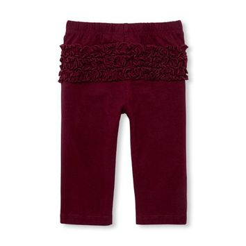 Baby Girls Ruffle Bottom Knit Pants