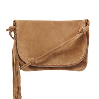 Genuine Suede Crossbody