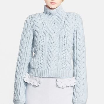 Women's Altuzarra Cable Knit Merino Wool Sweater,