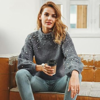 Baylee Knitted Pearl Sweater