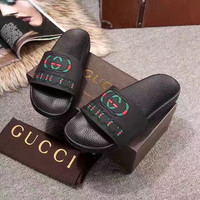 Gucci Casual Fashion Women Sandal Slipper Shoes black