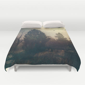 Home is where the fog is Duvet Cover by HappyMelvin