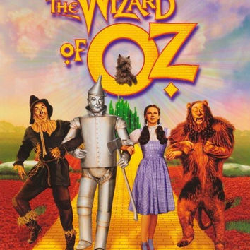 The Wizard Of Oz Movie Poster 27x40 Rare 1999 used