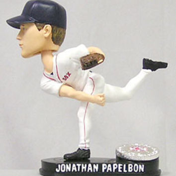 Boston Red Sox Jonathan Papelbon Forever Collectibles Blatinum Bobblehead