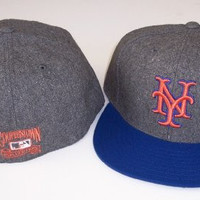New York Mets Fitted Hat Cap Size 8 MLB Authentic & NEW
