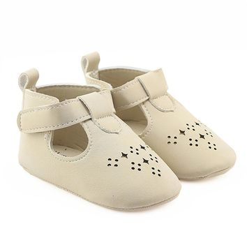 Baby Girls PU Leather Soft Soled Dress Shoes