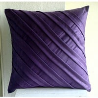Contemporary Purple  Throw Pillow Covers  16x16 by TheHomeCentric