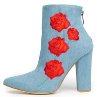 Cape Robbin Beautiful-9 Women's Denim Booties