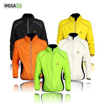 Windproof and Waterproof Cycling Jackets by WOSAWE for Men  and Women - Long Sleeve and Sleeveless Styles