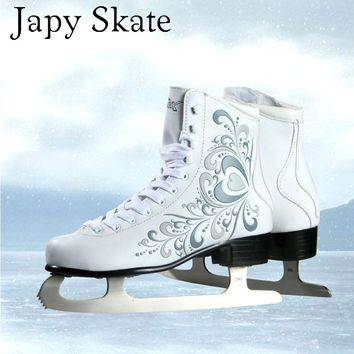 Figure Skate Vik Max Ice Skate Tricks Shoes Adult Child Leather Professional Flower Knife Real Ice Skates