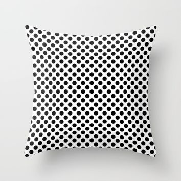 #9 Circles Throw Pillow by Minimalist Forms