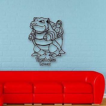 Wall Stickers Vinyl Decal Pokemon Blastoise Anime Cartoon Kid Baby Room (ig1098)