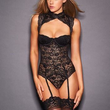 Natashya Lace High Neck Teddy