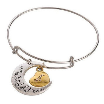 To the Moon and Back Bangle Bracelet