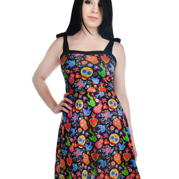 Too Fast MEXICAN EMBROIDERY ANNABEL DRESS