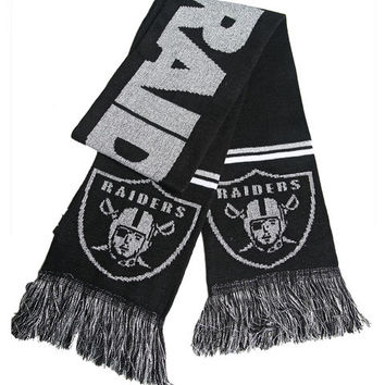 Oakland Raiders Knit Scarf