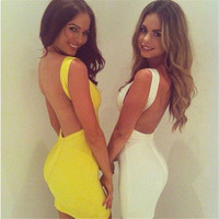 2014 New Fashion Sexy Bodycon Bandage Dress Backless Spaghetti Strap Bandage dress Sexy Night Club Wear Party Dress LD0626 = 1946770436
