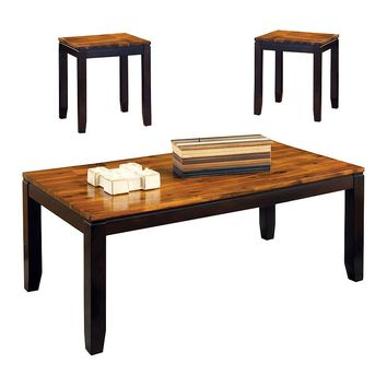 Abaco 3-piece Coffee & End Table Set (Natural)