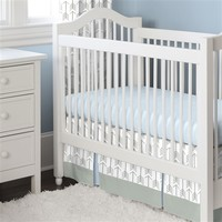 Gray and Lake Blue Arrow Two-piece Crib Bedding Set