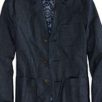 AEO 's Chambray Blazer (Blue)