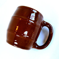 Brown Barrel Mug by Hall