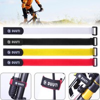 Fixed Gear BMX MTB Road Bike Tape Strap Nylon Bicycle Sticking Tie Strap Universal Magic Fixed Pump Holder Belt Bike Accessories