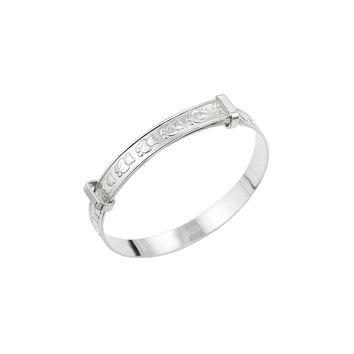 Baby Expandable Bangle for Christening, Baptism, Baby Shower Present - STERLING SILVER