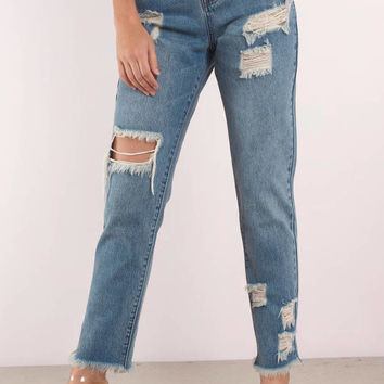 Montana Low Rise Distressed Jean
