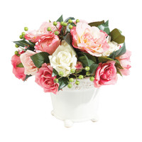 Pink Roses with Berries - Ethan Allen US