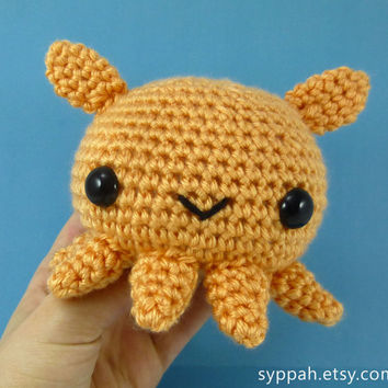 Dumbo Octopus #1/30 - Ready to Ship - Amigurumi Crochet Plushie