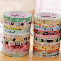 1.5cm*25m Kawaii Totoro corner easily Kumamoto Diy Washi Tapes Masking Tape Cartoon Tapes School Supplies Material Escolar