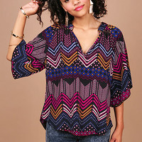 Starling Pixel Blouse - Trendy Clothes at Pinkice.com