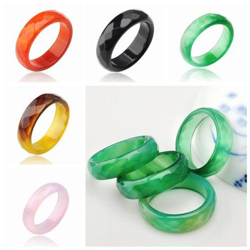 Hot sale natural red stone ring jewelry semi precious stone engagement wedding rings for women and men semi  buy one send two