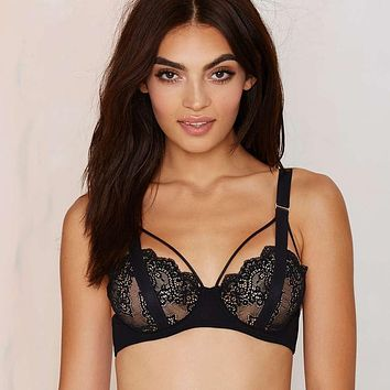 New Cutout Lace Bra Strappy Shimmer Bralette Gage Brassiere Unlined Bralet Lounge Bralette Sexy Ladies Underwear Intimates