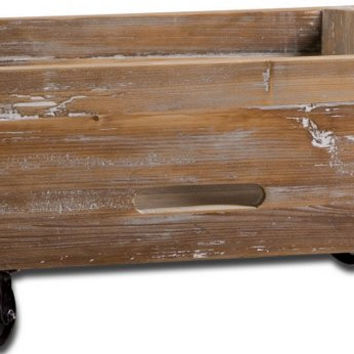 Uttermost Stratford Reclaimed Wood Rolling Box - 24247