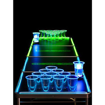 Glowing Beer Pong Table - 6.5 ft - Spencer's