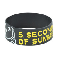 5 Seconds Of Summer Symbols Rubber Bracelet