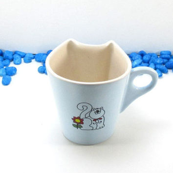 Ceramic cat mug, handmade cat mug, pottery cat mug, clay cat mug, cat mug, ceramic mug, pottery mug, clay mug, handmade mug, cat lovers gift