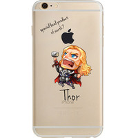 "Thor Jelly Clear Case for Apple iPhone 6/6s PLUS (5.5"")"