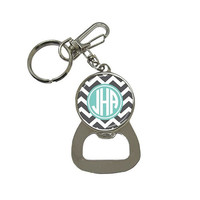 Monogram Bottle Opener Key Chain - Mix and Match design