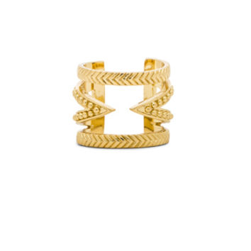 Cut Out Bar Ring in Gold