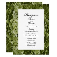 Green Annabelle Hydrangea Flower Wedding Invite