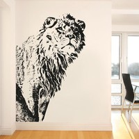 Vinyl Wall Decal Sticker Big Lion #OS_AA542