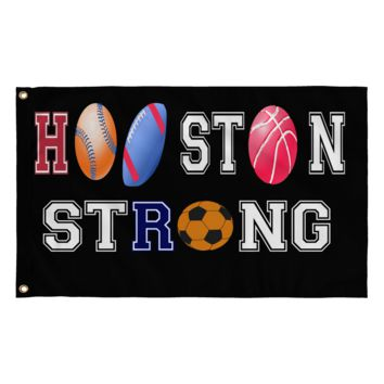 "Houston Strong - The 4 Pro Teams and 2 Colleges of Houston 36"" x 60"" Flag"