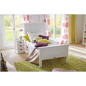 Halifax Bed Twin-Size White semi-gloss