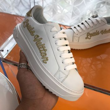 Women's Lv Time Out Sneaker With Gold